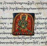 The Tibetan alphabet is an abugida of Indic origin used to write the Tibetan language as well as the Dzongkha language, Denzongkha, Ladakhi language and sometimes the Balti language.<br/><br/>  The printed form of the alphabet is called uchen script (Tibetan: དབུ་ཅན་; Wylie: dbu-can; 'with a head') while the hand-written cursive form used in everyday writing is called umê (Tibetan: དབུ་མེད་; Wylie: dbu-med; 'headless'). The alphabet is very closely linked to a broad ethnic Tibetan identity. Besides Tibet, it has also been used for Tibetan languages in Bhutan, India, Nepal, and Pakistan.<br/><br/>   The Tibetan alphabet is ancestral to the Limbu alphabet, the Lepcha alphabet, and the multilingual 'Phags-pa script.<br/><br/>   The creation of the Tibetan alphabet is attributed to Thonmi Sambhota of the mid-7th century. Tradition holds that Thonmi Sambhota, a minister of Songtsen Gampo (569-649), was sent to India to study the art of writing, and upon his return introduced the alphabet. The form of the letters is based on an Indic alphabet of that period.