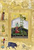 Nasir ud-din Muhammad Humayun (Persian: نصیر الدین محمد همایون; full title: Al-Sultan al-'Azam wal Khaqan al-Mukarram, Jam-i-Sultanat-i-haqiqi wa Majazi, Sayyid al-Salatin, Abu'l Muzaffar Nasir ud-din Muhammad Humayun Padshah Ghazi, Zillu'llah; 7 March 1508 - 22 February 1556) was the second Mughal Emperor who ruled present day Afghanistan, Pakistan, and parts of northern India from 1530–1540 and again from 1555–1556.<br/><br/>  Like his father, Babur, he lost his kingdom early, but with Persian aid, he eventually regained an even larger one. On the eve of his death in 1556, the Mughal empire spanned almost one million square kilometers.<br/><br/>  He succeeded his father in India in 1530, while his half-brother Kamran Mirza, who was to become a rather bitter rival, obtained the sovereignty of Kabul and Lahore, the more northern parts of their father's empire. He originally ascended the throne at the age of 22 and was somewhat inexperienced when he came to power.<br/><br/>  Humayun lost his Indian territories to the Pashtun noble, Sher Shah Suri, and, with Persian aid, regained them 15 years later. Humayun's return from Persia, accompanied by a large retinue of Persian noblemen, signaled an important change in Mughal court culture, as the Central Asian origins of the dynasty were largely overshadowed by the influences of Persian art, architecture, language and literature.<br/><br/>  Subsequently, in a very short time, Humayun was able to expand the Empire further, leaving a substantial legacy for his son, Akbar.